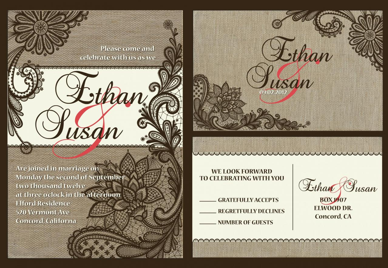 Personalized Wedding Invitation With love birds//matching RSVP postcard//fully customized to your wedding